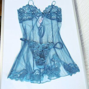 NWOT Victoria Secret Babydoll Chemise With Thong